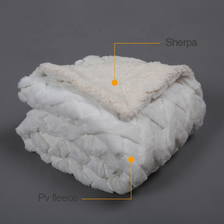 Winter Soft Thick Sherpa Fleece Sofa Bed Blanket Throw Luxury Large Warm Blanket Wholesale